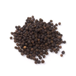 some black pepper isolated on white background